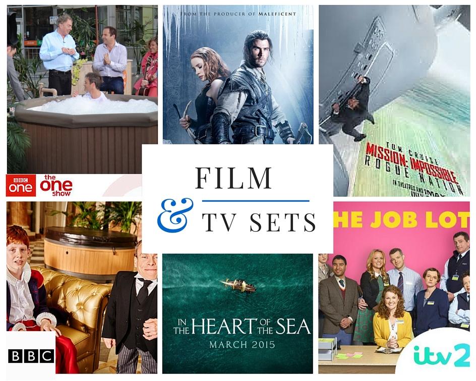 hot tub hire film sets tv studios corporate clients